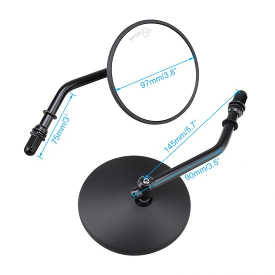 Motorcycle rear view mirror with E-mark